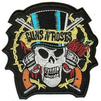 Guns n' Roses Iron-On Patch Tophat Skull Logo
