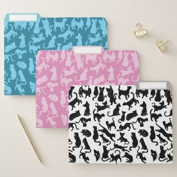 Cat Pattern File Folder
