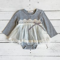Little Dreamer Onesuit - Heather Grey