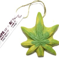 Lime Kush Dope on a Rope - Lime & Orange Pot Leaf Soap - LAST ONE!