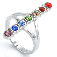 7 Chakra Point Balancing Meditation Ring