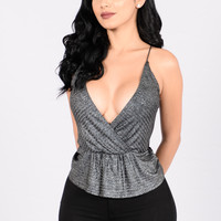 Glam Girl Top - Silver