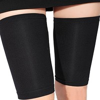 New Fashion Thin Thigh Leg Shaper Burn Fat Socks Compression Stovepipe Leg Warmer Leg Slimming Black