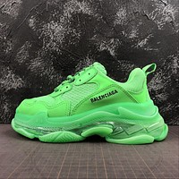 Balenciaga Triple S Clear Sole Trainers Sneakers SNEAKER TESS.S.GOMMA Apple Green With Air Bubble