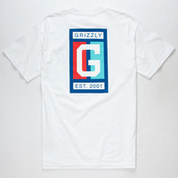 GRIZZLY Center Court Mens T-Shirt | Graphic Tees