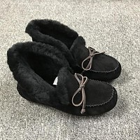UGG Slippers ALENA Black Women Shoes 1004806