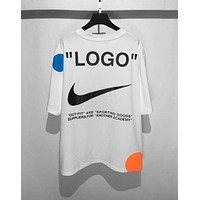 OFF-WHITE X Nike OW Joint World Cup Limited Round Neck Half Sleeve T-Shirt white