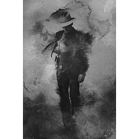 Justified poster Metal Sign Wall Art 8in x 12in Black and White