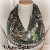 REALTREE Ready To Ship Jersey Knit Camo Camoflauge Fashion Infinity Scarf Hunting Duck Dynasty Camo Scarf Camouflage Women's Accessories