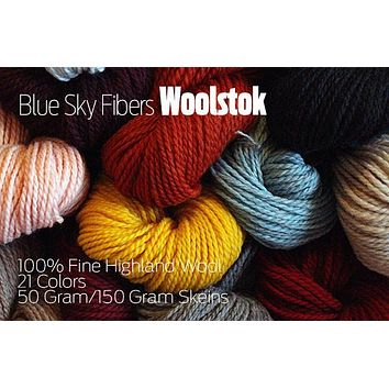 Blue Sky Fibers Woolstok Yarn | 100% Fine Highland Wool - Worsted Weight!