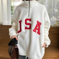 FLEECE USA SWEATER