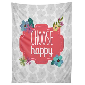 Lara Kulpa Choose Happy Tapestry