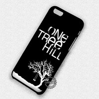 White Silhouette With a Swing One Tree Hill - iPhone 7 6 5 SE Cases & Covers