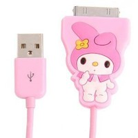 Cute Dock Connector To USB Power & Data Cable for iPhone iPod - My Melody