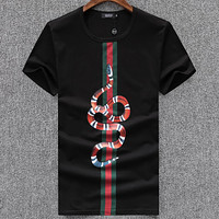 Gucci Men Fashion Casual Letter Print Shirt Top Tee