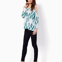 Abstract Cold Shoulder Top | Fashion Apparel and Clothing | charming charlie