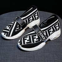 Fendi new personality casual shoes FF fashion ladies increased breathable casual sports shoes women