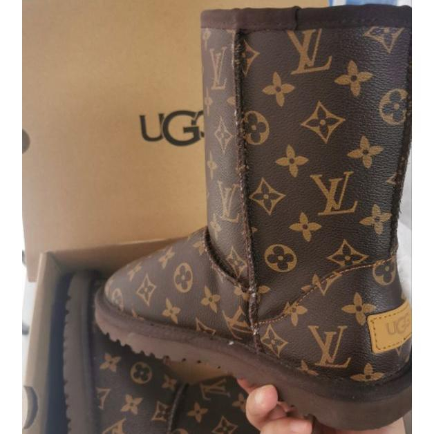 Image of LV Louis vitton UGG new letter print mid-cut snow boots Sho