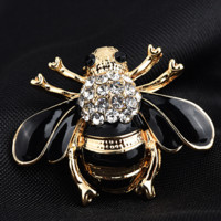 New Fashion Hot Sale Diamond Bee Brooch Accessories