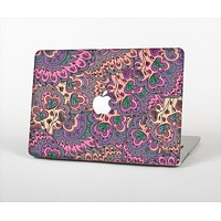 """The Purple, Green, and Blue Vector Floral Pattern Skin Set for the Apple MacBook Air 13"""""""