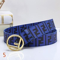 FENDI New Fashion Couple More Letter Leather Buckle Belt-1