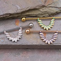 Crystal Feather Industrial Barbell Hanger
