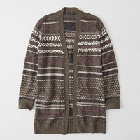 Womens Long Patterned Cardigan | Womens Clearance | Abercrombie.com