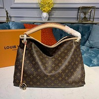 lv louis vuitton women leather shoulder bags satchel tote bag handbag shopping leather tote crossbody 184