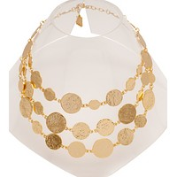 Hammered Medallions Necklace