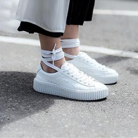 PUMA RIHANNA FENTY CREEPERS US UK 5 6 7 7.5 8 9 10 .5 PATENT WHITE CREEPER HEART