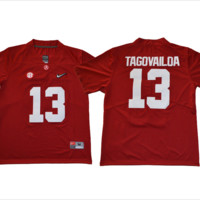 Tua Tagovailoa #13 Alabama Crimson Tide Jersey (Adult and Youth Sizes)