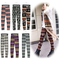 New Hot Women Fashion Snowflake Reindeer Knitted Warm Leggings Pants 17 Types 10265 = 1713189252