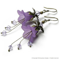 Romantic Lilac Floral Fantasy Crystal by whimsydaisydesigns