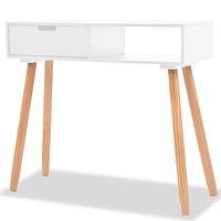 Solid Pinewood Console Table Wooden TV Stand Table Home Multi Colors