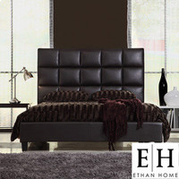 Sarajevo Queen-Sized Dark Brown Faux Leather Bed | Overstock.com