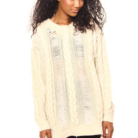 Somedays Lovin Going Home Cable Knit Tunic