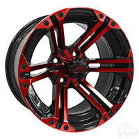 RHOX RX354 Black and Red w/Center Cap, 14x7 ET-25