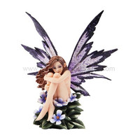 *New* 2013 Amy Brown Fantasy Periwinkle Flower Fairy Statue Enchanted 6h Figurine