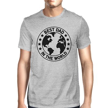World Best Dad Gray Graphic T-shirt For Men Fathers Day Design