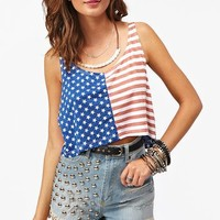 Stars  Stripes Crop Tank in  Clothes Tops Tanks at Nasty Gal