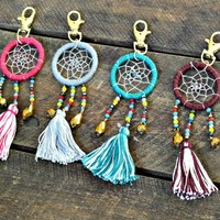 Artisan Crafted Bead Dreamcatcher Keychain