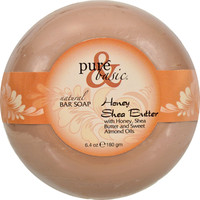 Pure And Basic Natural Deodorant Bar Soap - Honey Shea Butter - Case Of 6 - 6.4 Oz