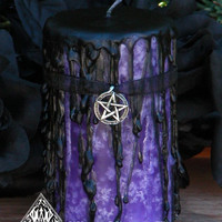 Queen of the Witches . Hekate Magick Candle . 2x3 Pillar . Spirit Workings, Psychic Awareness, Divination, Transformation, Personal Growth