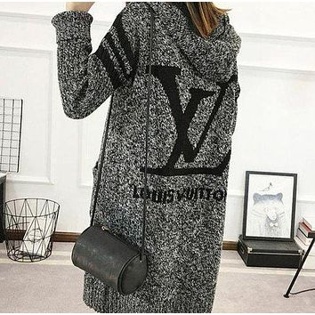 Louis Vuitton Hooded Sweater Knit Cardigan Jacket Coat