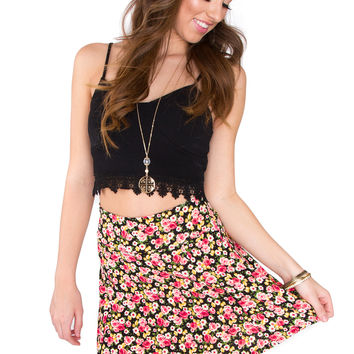 Take A Ride Floral Skirt