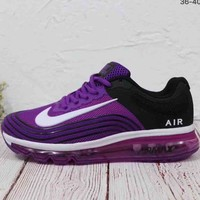NIKE AIR 2018 men and women casual full palm cushion running shoes F-MLDWX Purple