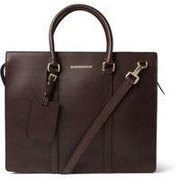 PRODUCT - Burberry Shoes & Accessories - Structured Leather Briefcase - 399466   MR PORTER