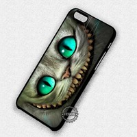 Green Eyes Cheshire Cat Alice Wonderland - iPhone 7 6 5 SE Cases & Covers