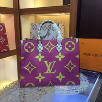 Louis Vuitton LV Women Leather Shoulder Bag LV M44571 Satchel Tote Bag Handbag Shopping Leather Tote Crossbody Satchel Shouder Bag