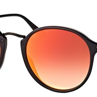 Authentic Ray Ban RB 2447 901/4W Round Shiny Black Vintage Sunglasses 49mm